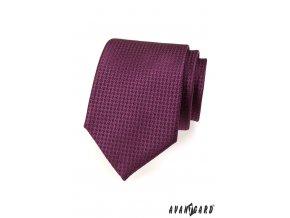 Tmavě fialová kravata se vzorem