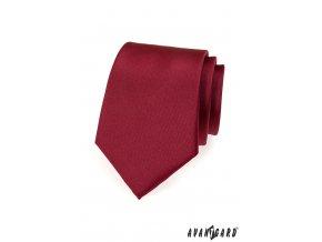 Bordó matná kravata bez vzoru_