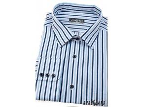 Modrá pánská košile, dl. rukáv 511-6501
