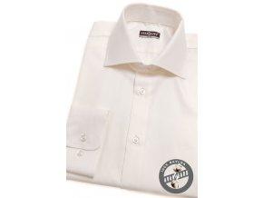 Smetanová bavlněná pánská Slim Fit košile, dl.rukáv, 109-206