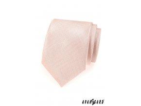 Světle lososová vzorovaná kravata_