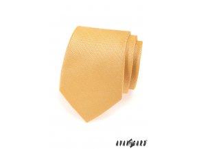 Žlutá kravata s vyrytým vzorem_
