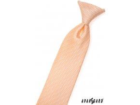 Lososová dětská kravata se vzorem_