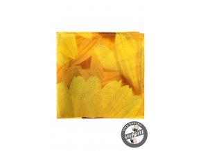 Žlutý kapesníček se vzorem slunečnice_