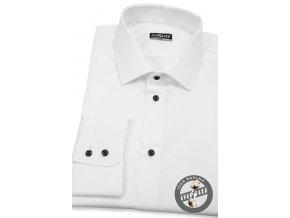 Bílá pánská klasická košile, dl.rukáv, 509-0123