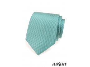 Světle tyrkysová matná jednobarevná kravata_