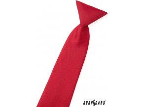 Červená matná chlapecká kravata