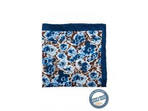 Modrý kapesníček s rozpitými květy