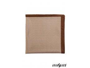 Béžový kapesníček s klikatým vzorem_