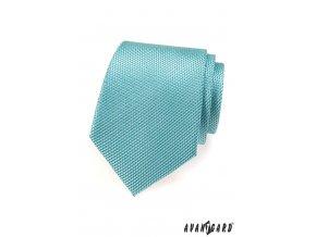 Tyrkysová kravata s hadím vzorem_