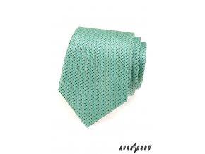Mátová kravata s růžovým vzorem