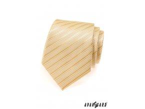 Smetanová kravata s pruhy_