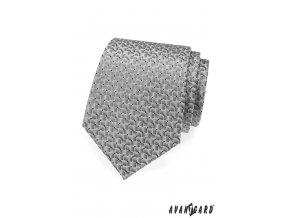 Světle šedá kravata s hadím vzorem_