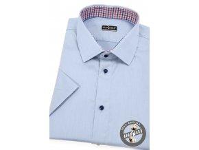 Světle modrá pánská SLIM FIT košile, kr. rukáv, 913-3112