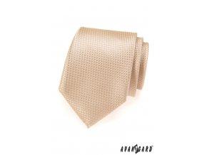 Světle béžová kravata se vzorem hadí kůže_
