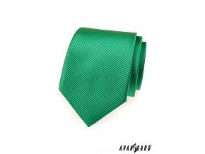 Zářivě zelená kravata s vyrytými proužky