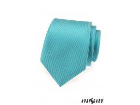 Tyrkysová jednobarevná kravata bez vzoru_