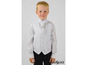 Bílá dětská vesta + regata premium + kapesníček