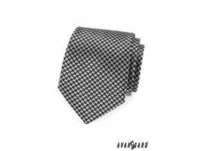 Černo-bílá kravata se vzorem