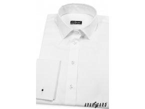 Bílá dámská košile na manžetové knoflíčky, 722-1
