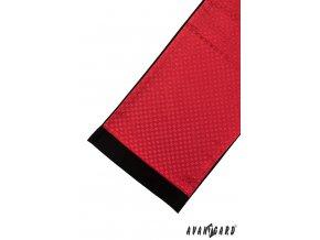 Červená pánská šála s velmi jemným vzorem a tmavým okrajem