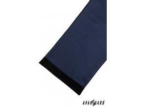 Modrá pánská šála se zářivě modrým vzorem