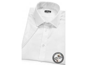 Bílá pánská SLIM fit košile, kr. rukáv, 913-1