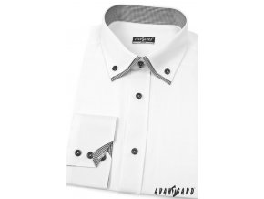 Bílá pánská SLIM FIT košile, dl. rukáv, 120-0122_