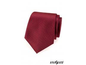 Bordó matná jednobarevná kravata