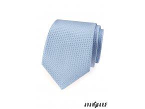 Velmi světle modrá kravata s jemným vzorem