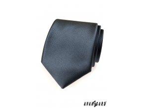 Grafitová kravata s jemným rýhováním