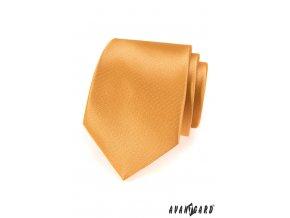 Žlutá kravata s velmi jemným vzorkem