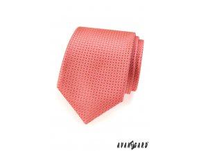 Korálová kravata s jemným vzorem