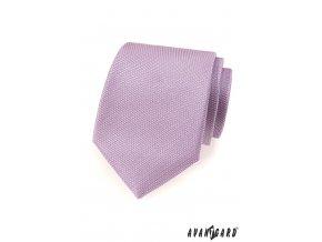 Lila vzorkovaná kravata