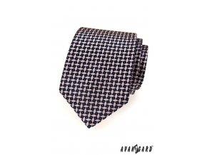 Světle růžová kravata s tmavým vzorem