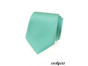 Zářivě mátová luxusní vzorkovaná kravata