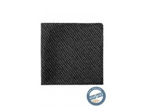 Černý kapesníček se světlým nepravidelným vzorem