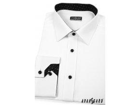Bílá pánská SLIM FIT košile, dl. rukáv, 125-0120_