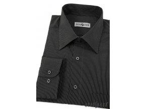 Černá pánská košile, dl. rukáv, 511-2302_