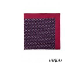 Bordó kapesníček s drobným barevným vzorem