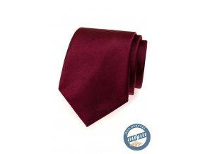 Bordó hedvábná kravata v krabičce