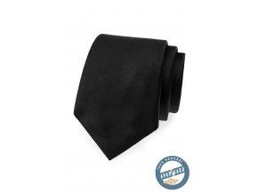 Černá hedvábná kravata v krabičce