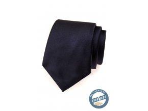 Velmi tmavě modrá hedvábná kravata v krabičce