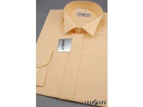 Pánská košile FRAKOVKA 454-4 V4-lososová (Barva V4-lososová, Velikost 41/182, Materiál 55% bavlna a 45% polyester)