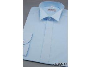 Pánská košile FRAKOVKA 454-15 V15-sv.modrá (Barva V15-sv.modrá, Velikost 43/194, Materiál 55% bavlna a 45% polyester)