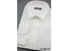 Pánská košile svatební FRAKOVKA 663-90017 3022-90017 smetanová (Barva 3022-90017 smetanová, Velikost 39/182, Materiál 80% bavlna a 20% polyester)