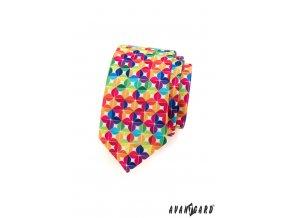 Barevná slim kravata