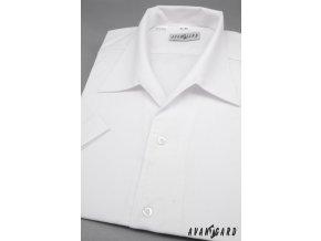 Pánská bílá košile rozhalenka 456-1