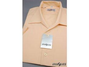 Pánská košile s rozhalenkou, kr.rukáv 456-4 V4-lososová (Barva V4-lososová, Velikost 38/182, Materiál 55% bavlna a 45% polyester)