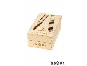 Dřevěná dárková krabička na šle - Pro svědka